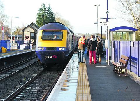 The 7.10am from Hereford to London slows down for its special stop at Ascott-under-Wychwood on December 3 last year