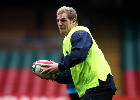 Oxford Mail: James Haskell, picked for England's squad this week, is playing for London Wasps against London Welsh tomorrow