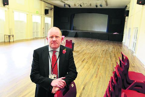 Vice principal Tom Hollis in the school's current drama block