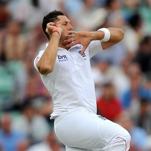 Tim Bresnan, pictured, took the wicket of Haryana's Sandeep Singh in England's final warm-up match