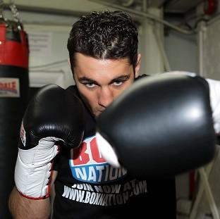 Nathan Cleverly, pictured, faces Shawn Hawk in defence of his WBO light-heavyweight title