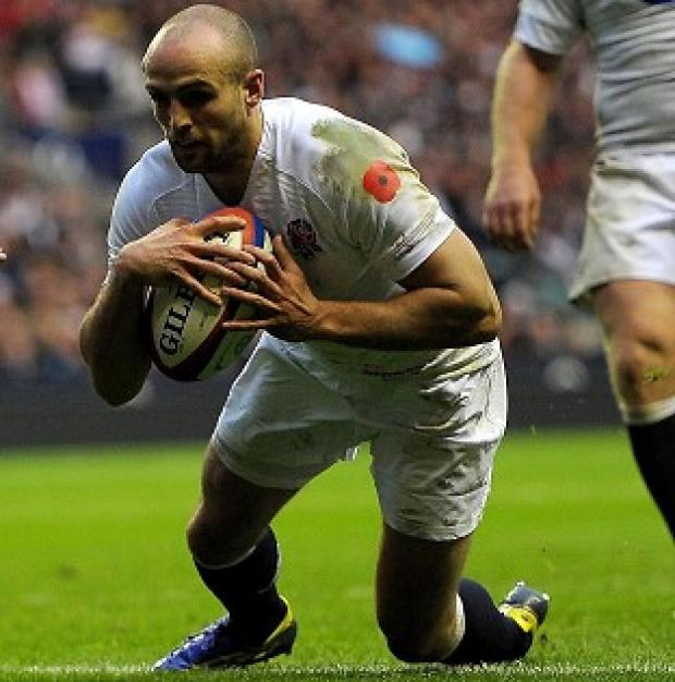Oxford Mail: Charlie Sharples scores a try during England's autumn Test with Fiji
