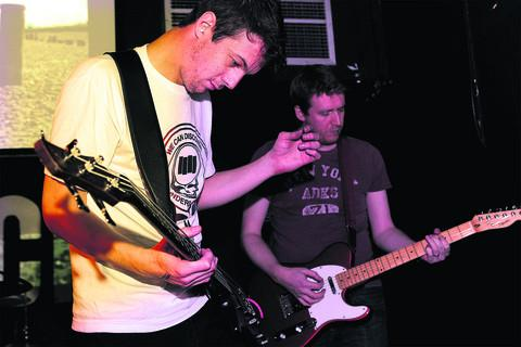 Organiser Stuart Fowkes, left, with guitarist Jim Hey
