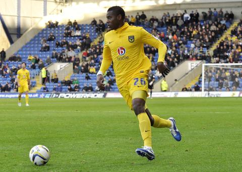 Liam Davis on the charge for Oxford United during Saturday's goalless draw against Torquay