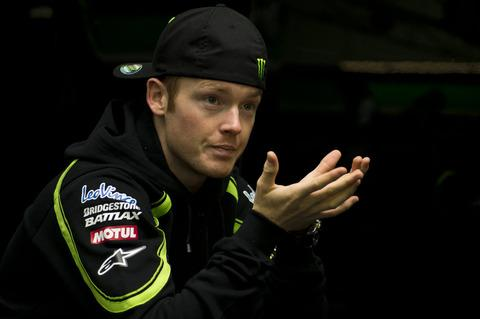 Bradley Smith waits for the rain in Spain to stop
