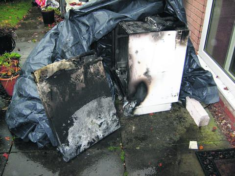 Oxford Mail: The burned-out dishwasher