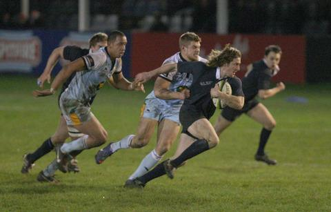 Sam Egerton breaks away for the Dark Blues against Northampton