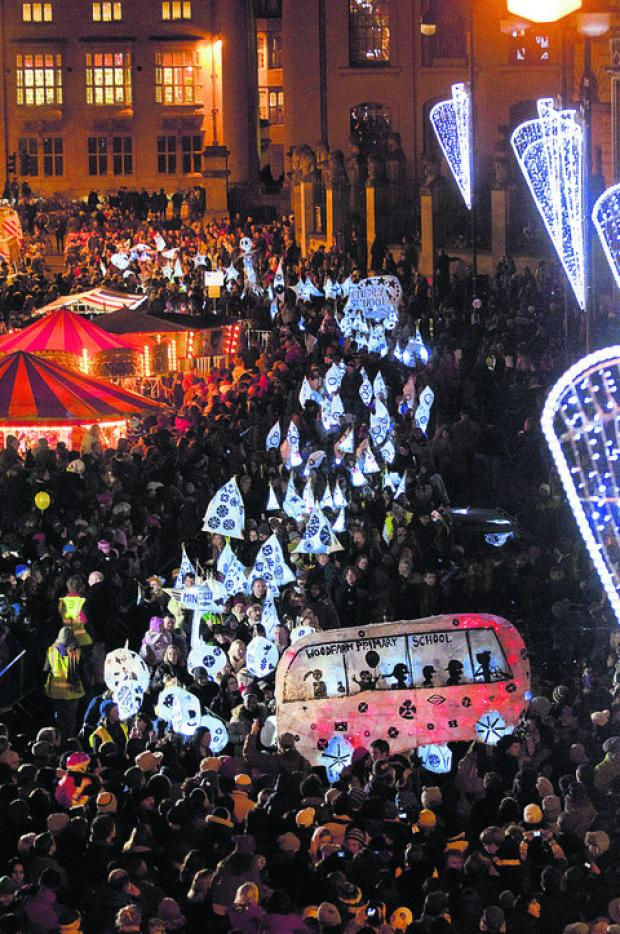 A previous Light Night procession