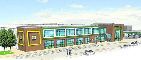 Oxford Mail: An artist's impression of the proposed new Morrisons store in Wallingford