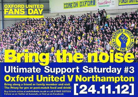 This will be the third Ultimate Support Saturday at Oxford United