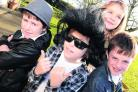 Nine-year-olds James Vane, centre, with Monty Hudson, Poppy Smart and Euan Taylor dressed in 1950s costumes