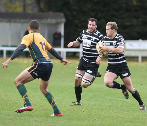 Chinnor's Henry Colver (right) took over the kicking duties after James Cathcart went off injured against Southend
