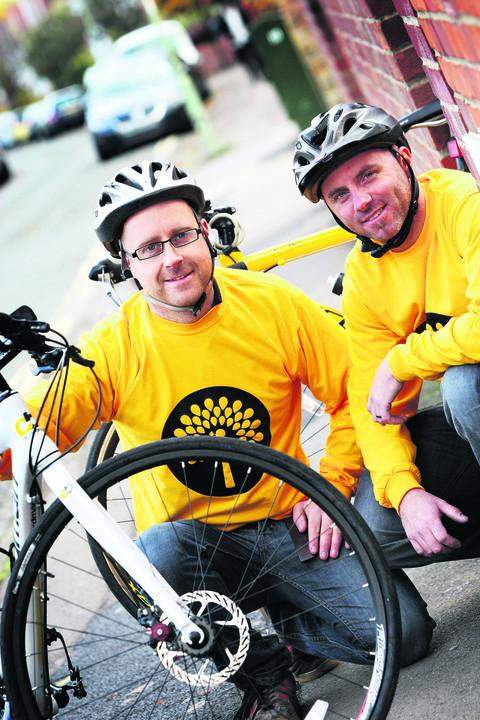 Gary Hewer, right, and Richard Wickson held a charity ride in memory of friend Paul Thompson  Picture: OX55535 Ed Nix
