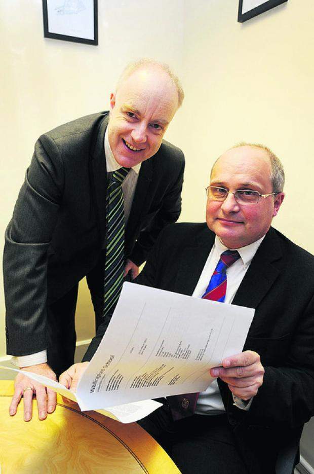 Chairman of governors at Wallingford School Ian Domville, left, and headteacher Wyll Willis