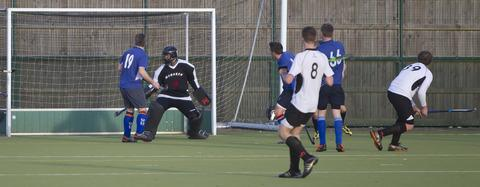 Liam Frost (39) on target for Witney in their 5-1 win over Oxford 2nd