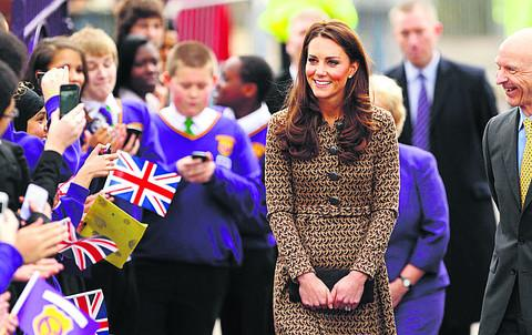 The Duchess of Cambridge at Oxford Spires Academy durin