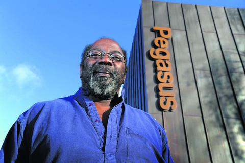 Euton Daley outside The Pegasus Theatre