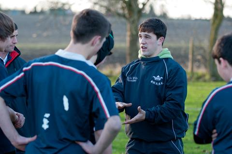 Nick Gardner coaching at King Alfred's, Wantage