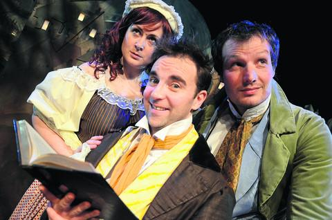 Emily Murphy, Mark Conway (as Charles Dickens) and Neil Haigh