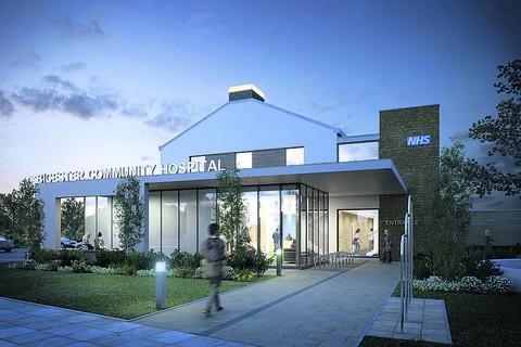 An artist's impression of the new Bicester Community Hospital
