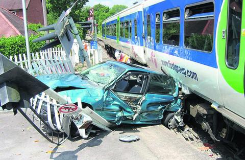 A 21-year-old driver was unhurt, but badly shaken, after he drove out in front of a First Great Western train at Shiplake level crossing in 2006. All 50 passengers and the driver of the train, which was between Henley and Twyford, escaped injury