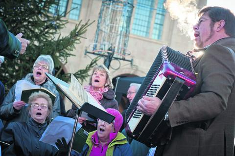 Local choirs were accompanied by Ian Miles