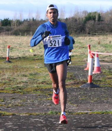 Anuradha Cooray has a big lead as he exits Weston-on-the-Green airfield