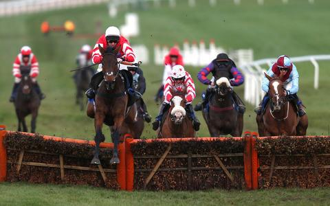 Coneygree (left) is back at Cheltenham on Saturday
