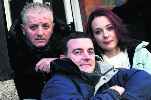 Left to right: Colin Morris-Smith, James Desmond and Sian Hawley, who will be sleeping rough to raise money for a homeless charity. Picture: OX56308 Ric Mellis