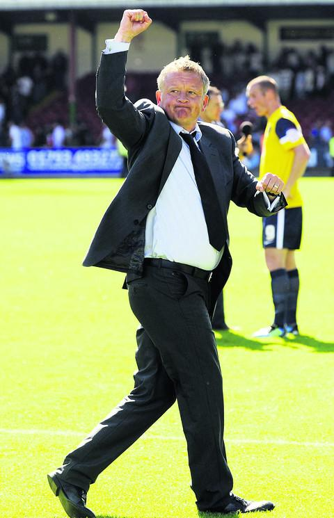 Chris Wilder after the U's beat Swindon Town 2-1 last season – their first away derby win since 1973