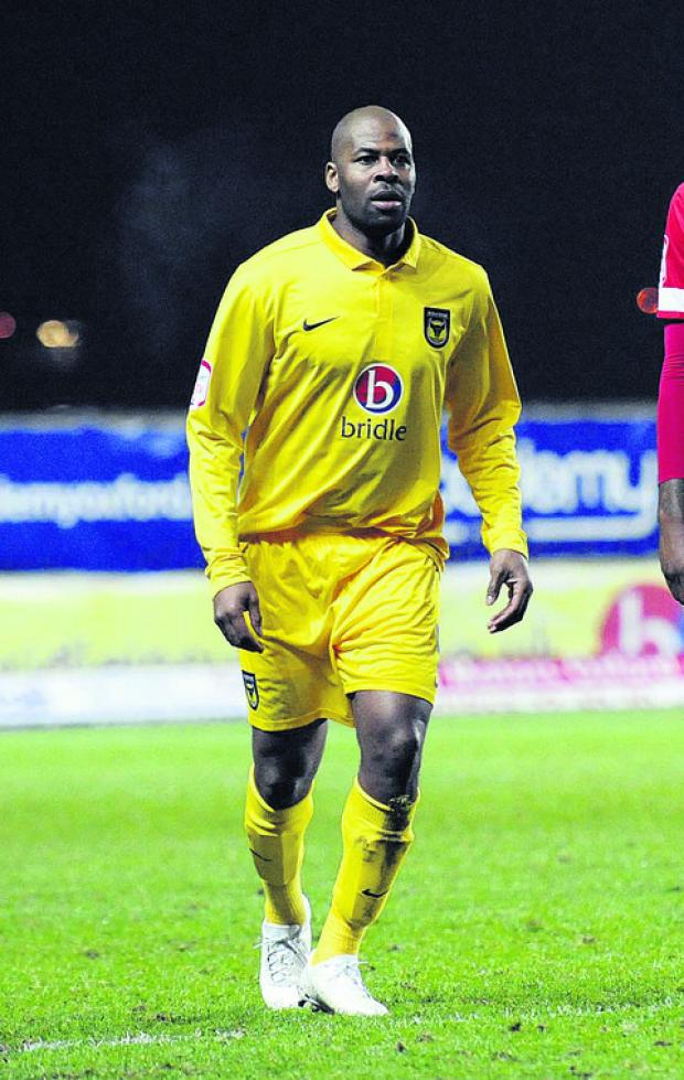 Oxford Mail: Michael Duberry on his return to the Oxford United side against Accrington on Tuesday nigh