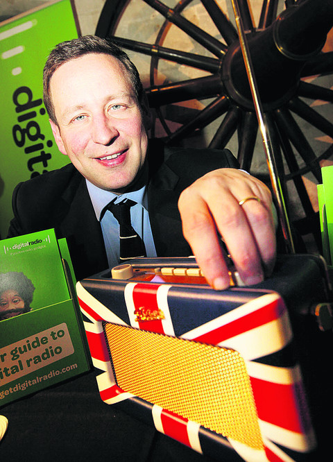 Ed Vaizey turns on the digital radio transmitter for local stations