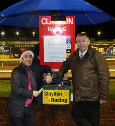 Bookmakers Tariq Oakman and Alan White try to lighten the gloom