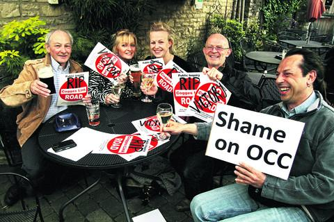 Oxford Mail: Campaigners celebrate after the Cogges Link Road scheme collapsed in June