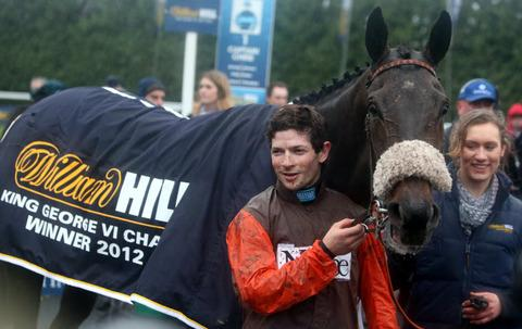 Sam Waley-Cohen with Long Run in the winner's enclosure