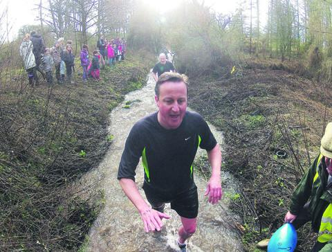 David Cameron in action