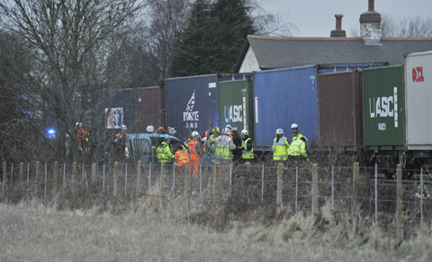 Car struck by train near Kidlington