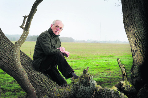 Michael Tyce, of CPRE, at the proposed site of the solar farm near Barton