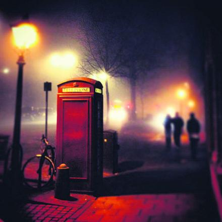 A picture of the fog in St Giles taken at 11.30pm on Wednesday