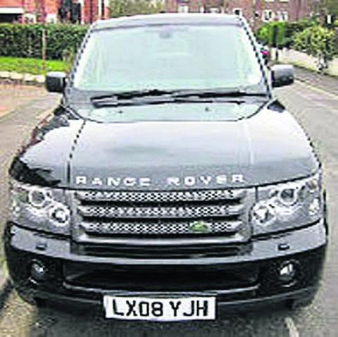 The stolen Range Rover