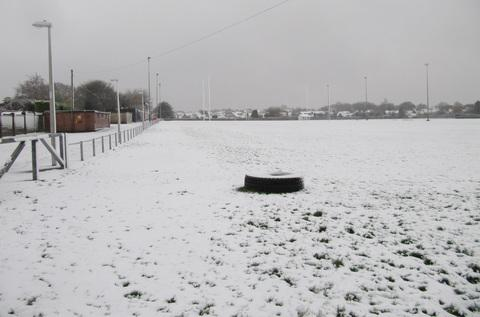 The Athletic Field covered in snow last weekend.