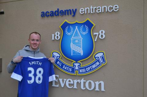 Bradley Smith pictured outside Everton's training ground before being put through his paces in a fitness test