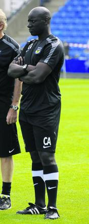 United youth team coach Chris Allen