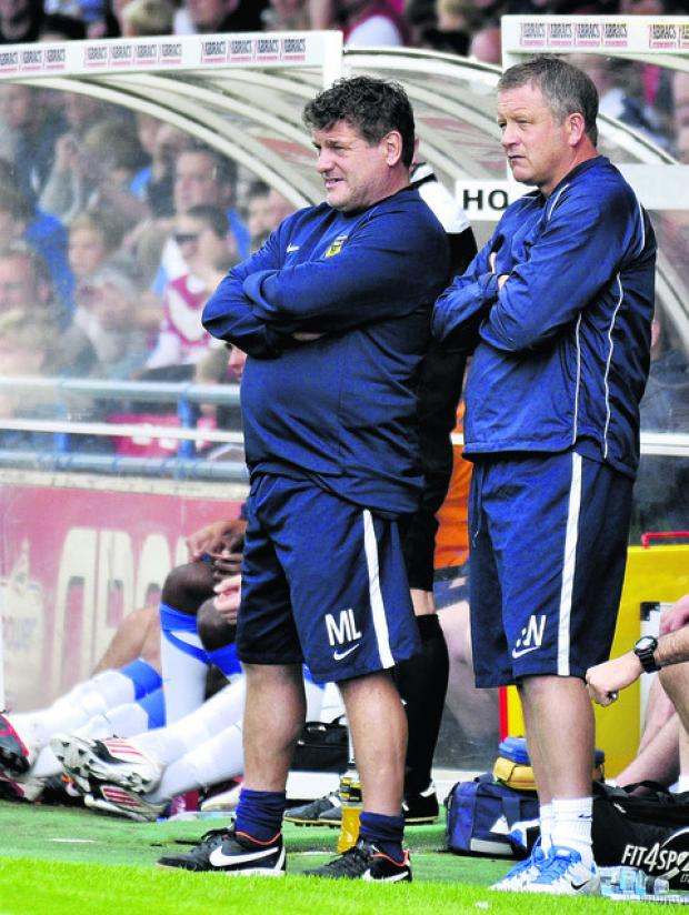 Oxford Mail: Mickey Lewis (left) says Fleetwood Town are a force to be reckoned with in their debut Football League season
