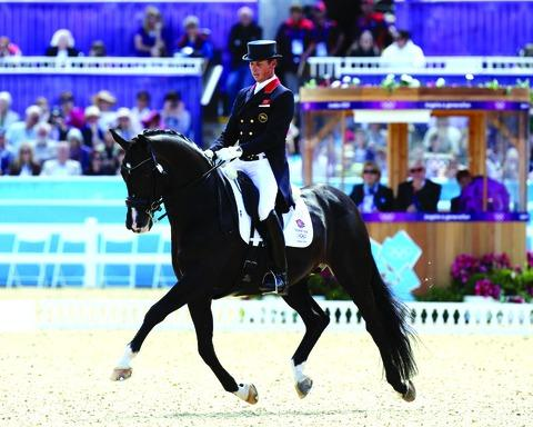 Carl Hester riding Utopia at London 2012