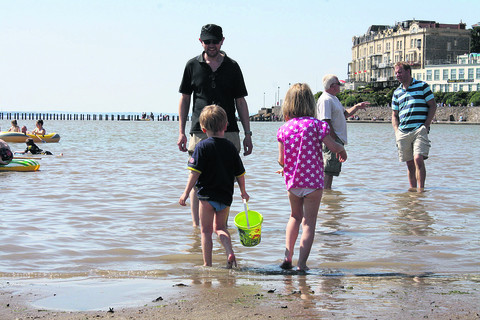 Families at Weston-Super-Mare