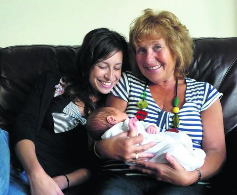 Oxford Mail: Sharon Berger with daughter Caroline and grandson Ben