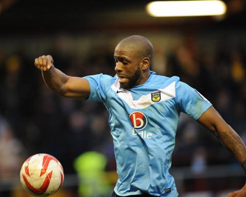 On-loan striker Justin Richards can't play for Oxford United against his parent club, Burton Albion, tonight