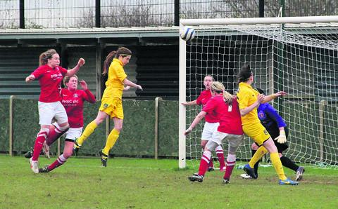 Lauren Allison leaps to head in the equaliser