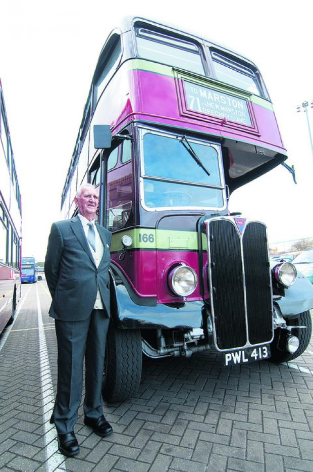 Oxford Mail: Arthur Pearson, who is to retire after 65 years at the Oxford Bus Company